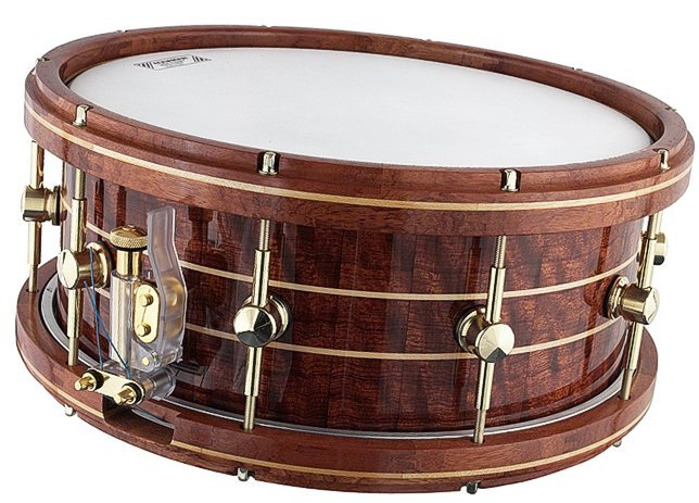 snare drum addict 6x14 bubinga stave with stanbridge hoops. Black Bedroom Furniture Sets. Home Design Ideas